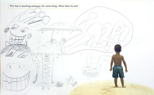 fotoplay-boy-beach-graffitti