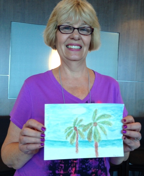 Marcie-J-Bronstein-watercolor-CelebritySolstice-painting