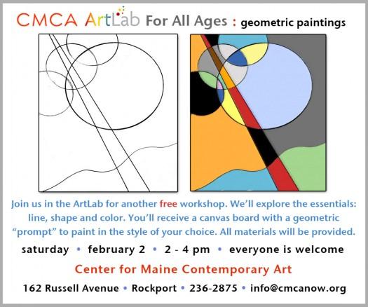 CMCA ArtLab Bronstein geometric paintings