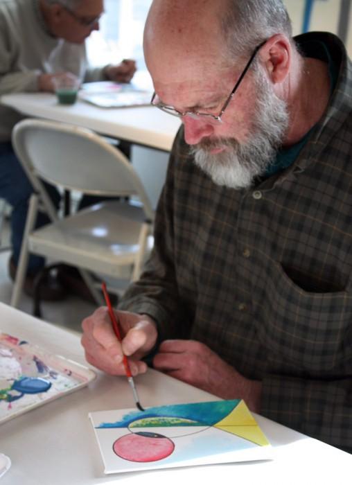 MJ Bronstein CMCA ArtLab Geometric painting 5