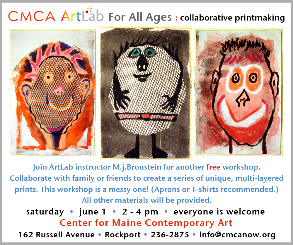 CMCA ArtLab collaborative printmaking Bronstein