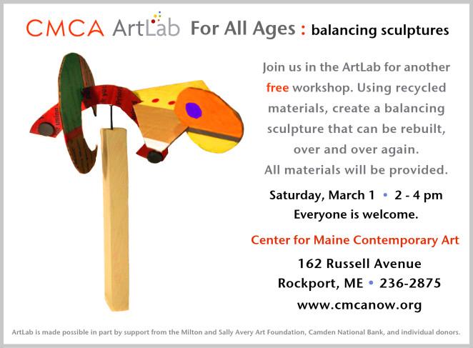 CMCA ArtLab Balancing sculptures 2014