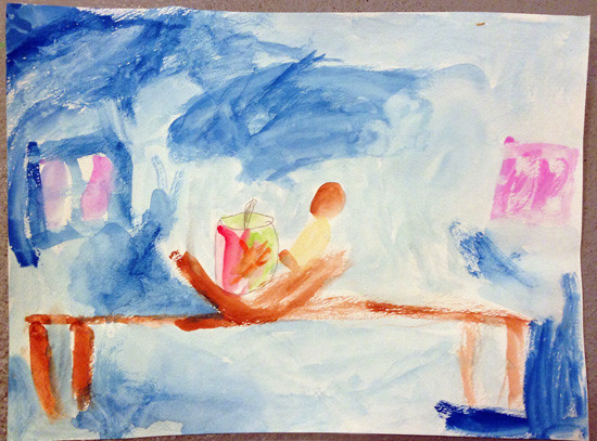 still life painting - bronstein- child