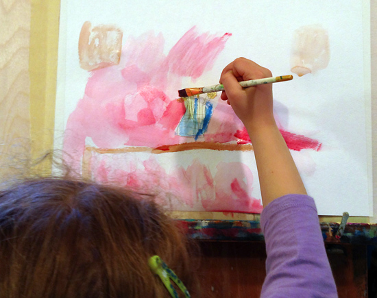still life-this playground-child-painting