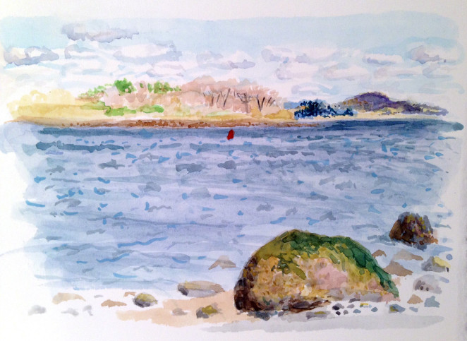 M Bronstein_watercolor-maine-sea
