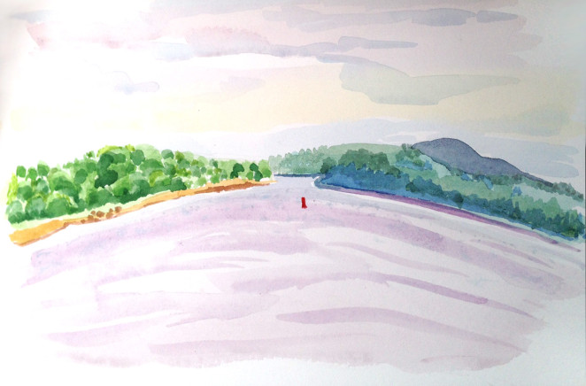 marcie j Bronstein_Belfast, Maine_watercolor