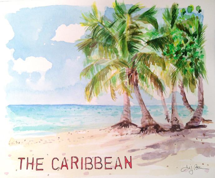 Caribbean_MJBronstein_watercolor