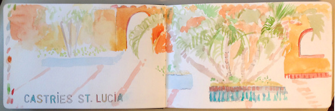 St.Lucia-M.J.Bronstein-watercolor