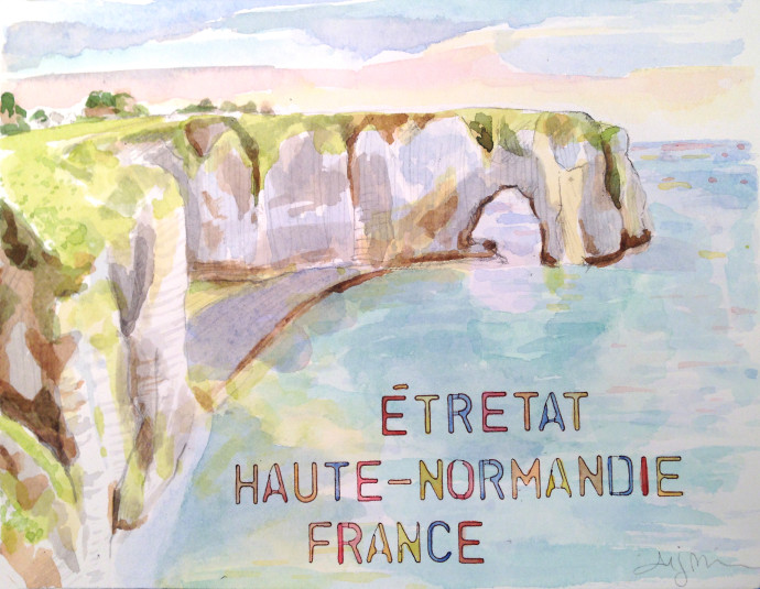 Etretat-M.J.Bronstein-watercolor