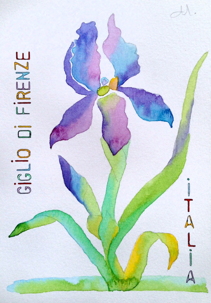 Giglio-di-Italia-MJ-Bronstein-watercolor