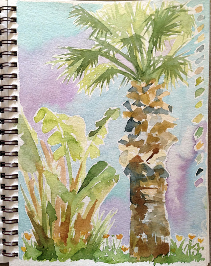 marcie-bronstein-watercolor-palm-kusadasi