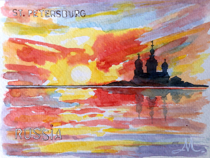 st.petersburg-watercolor-russia-bronstein